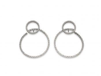 Orecchini Volteggi in oro bianco 18 carati e diamanti bianchi da 0,51 carati